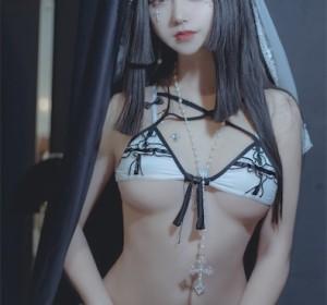 Coser过期米线线喵 - NO.089 修女高清写真集[53P/85M]